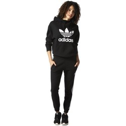 Clothing Women sweatpants adidas Originals Trf Hoodie KN Black