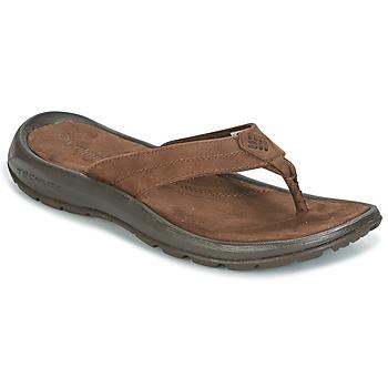 Shoes Men Flip flops Columbia MANAROLA II Brown