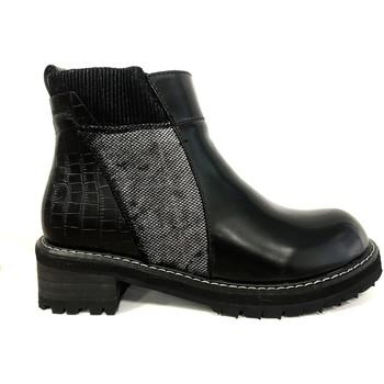 Shoes Women Mid boots Cassis Côte d'Azur Noe Bottines Vernis Noir Black