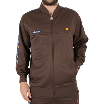 Clothing Men sweatpants Ellesse Men's Squad Zip Tracktop Jacket, Brown brown