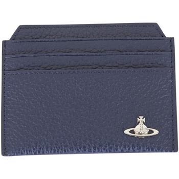 Bags Men Wallets Vivienne Westwood Men's Orb New Credit Card Holder, Blue blue