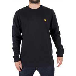 Clothing Men Long sleeved tee-shirts Carhartt Wip Men's Longsleeved Chase T-Shirt, Blue blue
