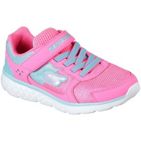 Shoes Girl Low top trainers Skechers GO Run 400 Sparkle Girls Sports Trainers pink