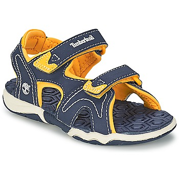 Shoes Children Outdoor sandals Timberland ADVENTURE SEEKER 2-STRAP SANDAL Blue / Yellow