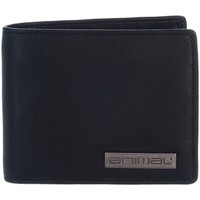Bags Men Wallets Animal Jeremie Leather Wallet - Black Black