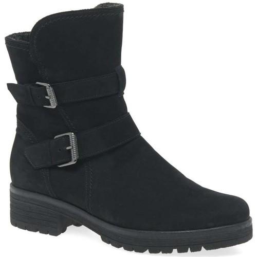 Shoes Women Ankle boots Gabor Shiraz Womens Buckle Detail Biker Boots black