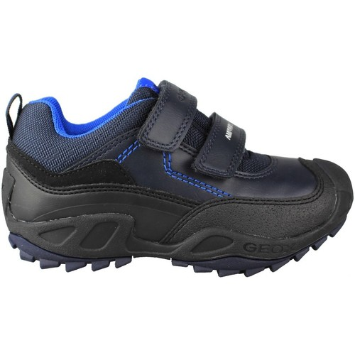 Shoes Children Low top trainers Geox JN SAVAGE DOBLE BLUE