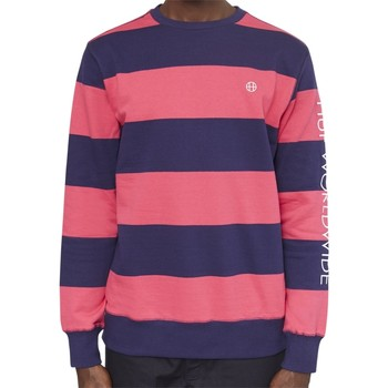 Clothing Men sweatpants Huf Catalina Stripe Crew Sweatshirt Pink pink