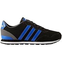 Shoes Children Low top trainers adidas Originals Neo V Jog K Blue-Black-White