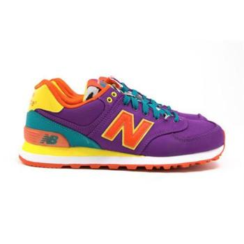 Shoes Women Low top trainers New Balance WL574PY Red-Green-Violet