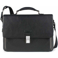 Bags Men Satchels Piquadro CARTELLA PORTA DOCUMENTI Nero