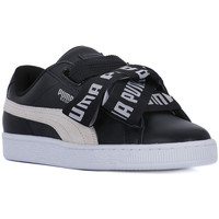 Shoes Women Low top trainers Puma BASKET HEART SAFARI DE Nero