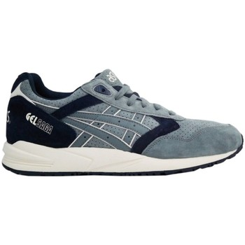 Shoes Men Low top trainers Asics Tiger Gel Saga Scratch Sniff Vanilla Beige-Navy blue-Light blue