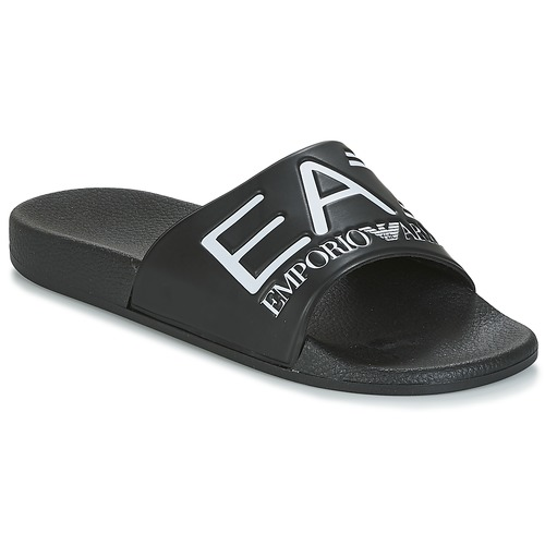 Shoes Tap-dancing Emporio Armani EA7 SEA WORLD VISIBILITY M SLIPPER Black / White