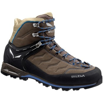 Shoes Men Walking shoes Salewa Mtn Trainer Mid Leather Brown-Graphite