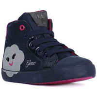 Shoes Girl Hi top trainers Geox B KIWI GIRL Blu