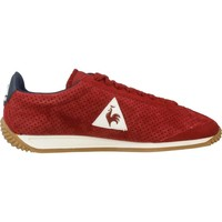 Shoes Men Low top trainers Le Coq Sportif QUARTZ PERFORATED NUBUCK Red