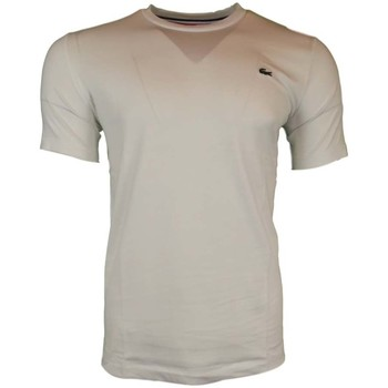 Clothing Men short-sleeved t-shirts Lacoste L!ve SS Classic Lacoste Tee white
