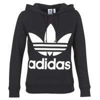 Clothing Women Sweaters adidas Originals TREFOIL HOODIE Black