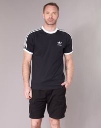 Clothing Men short-sleeved t-shirts adidas Originals 3 STRIPES TEE Black