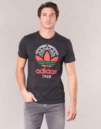 Clothing Men short-sleeved t-shirts adidas Originals TREFOIL TEE Black