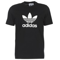 Clothing Men short-sleeved t-shirts adidas Originals TREFOIL T SHIRT Black