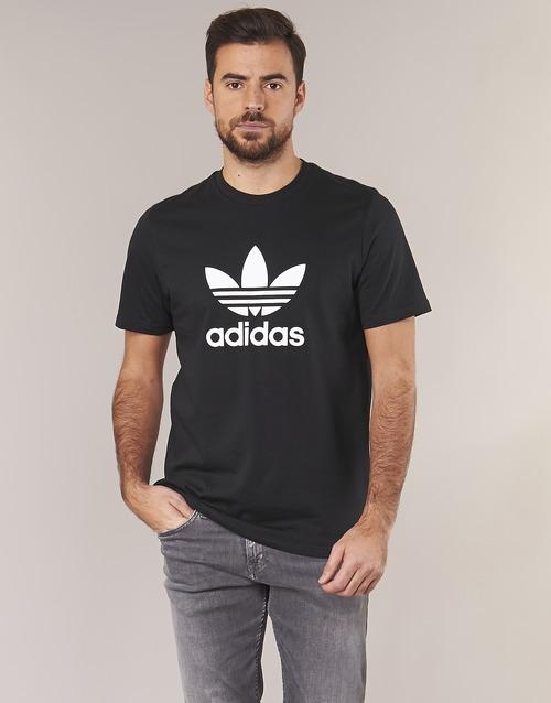 adidas TREFOIL Black Originals T SHIRT gaxrF5gw