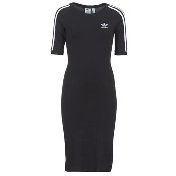 Clothing Women Short Dresses adidas Originals 4 STRIPES DRESS Black