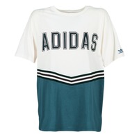 Clothing Women short-sleeved t-shirts adidas Originals ADIBREAK SS TEE White / Marine