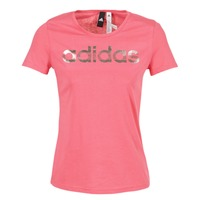 Clothing Women short-sleeved t-shirts adidas Performance FOIL LINEAR Pink