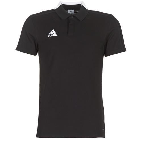 Clothing Men short-sleeved polo shirts adidas Performance CON18 CO POLO Black
