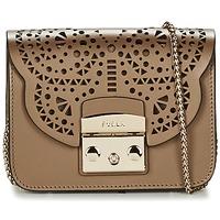 Bags Women Shoulder bags Furla METROPOLIS BOLERO MINICROSSBODY Bronze