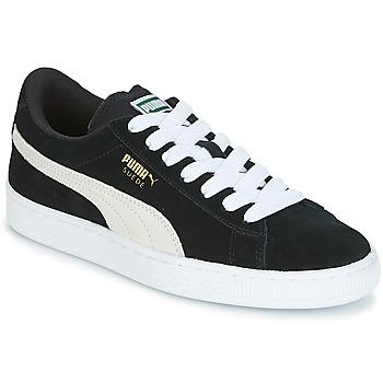 Shoes Children Low top trainers Puma SUEDE JR Black / White