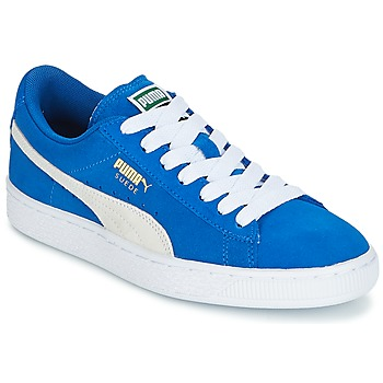 Shoes Boy Low top trainers Puma SUEDE JR Blue / White