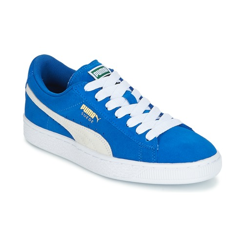 Shoes Children Low top trainers Puma SUEDE JR Blue / White