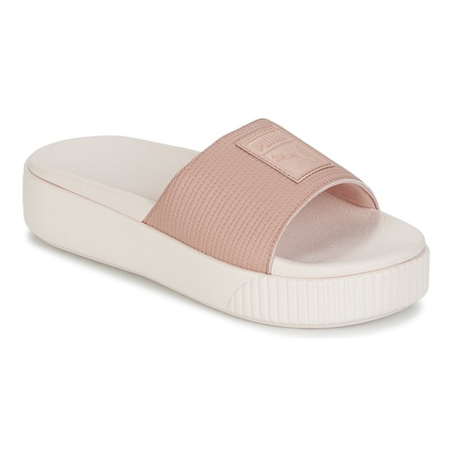 Shoes Women Mules Puma PLATFORM SLIDE WNS EP Pink
