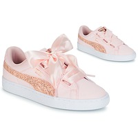 Shoes Women Low top trainers Puma BASKET HEART CANVAS W'S Pink