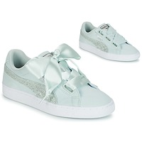 Shoes Women Low top trainers Puma BASKET HEART CANVAS W'S Blue / White / Silver