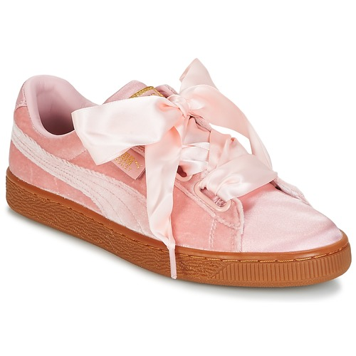 Shoes Women Low top trainers Puma BASKET HEART VS W'N Pink