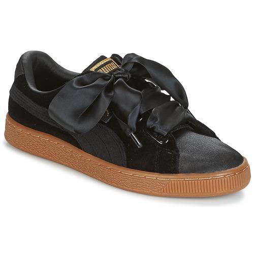 Shoes Women Low top trainers Puma BASKET HEART VS W'N Black