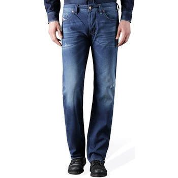 Clothing straight jeans Diesel Larkee 0842M Regular Straight Fit Jeans Blue
