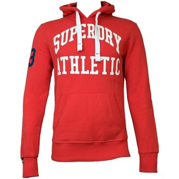 Clothing sweaters Superdry Mens Tigers Athletic Hoodie Indiana Red