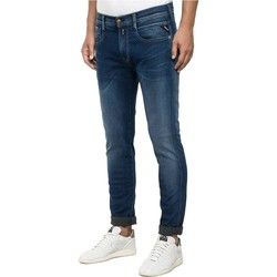 Clothing straight jeans Replay Hyperfree Anbass Slim Fit Jeans Indigo Blue
