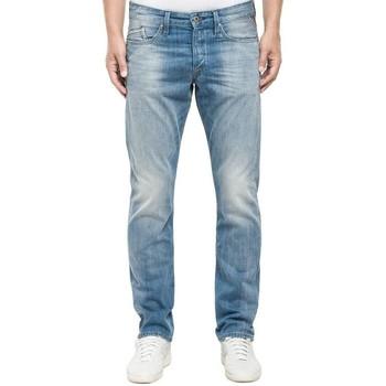 Clothing straight jeans Replay Waitom Light wash Denim Jeans Light Blue