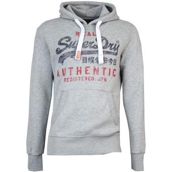 Clothing sweaters Superdry Vintage Authentic Entry Hoodie Grey Marl