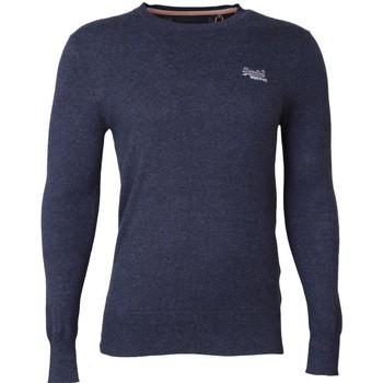 Clothing jumpers Superdry Orange Label Crew Neck Jumper Navy