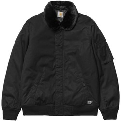 Clothing Men Jackets Carhartt Stanley Bomber Jacket With Removable Faux Fur Collar Black