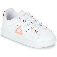 Shoes Girl Low top trainers Le Coq Sportif COURTONE INF S LEA White