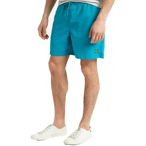 Clothing Men Shorts / Bermudas Lyle & Scott Plain Swim Shorts AQUA Green