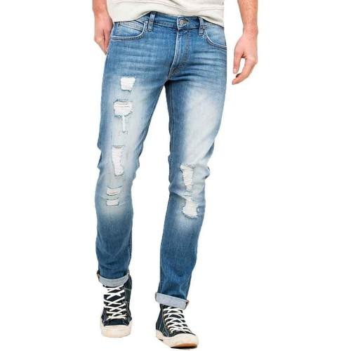 1aaa1c14 Lee Luke Skinny Ripped Jeans Blue - Clothing Boyfriend jeans Men £ 64.00